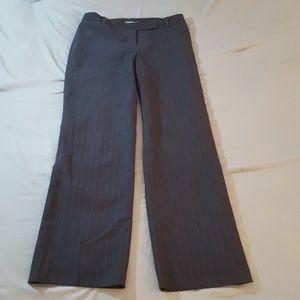 ANN TAYLOR Pants Gray Pinstripe Petite Size 4P